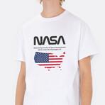 NASA Map Tee // White (Small)
