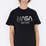 NASA Worm Moon Landing T-Shirt // Black (Small)