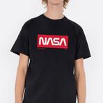 NASA Perseverance Red T-Shirt // Black (Small)