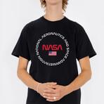 NASA Circle Definition T-Shirt // Black (Small)