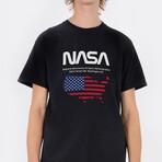 NASA Map T-Shirt // Black (Small)
