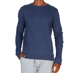 Super Soft Crew Sweatshirt // Heather Navy (S)