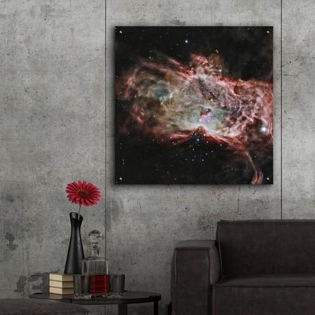 """Flame Nebula (12""""H x 12""""W x 0.13""""D)"""