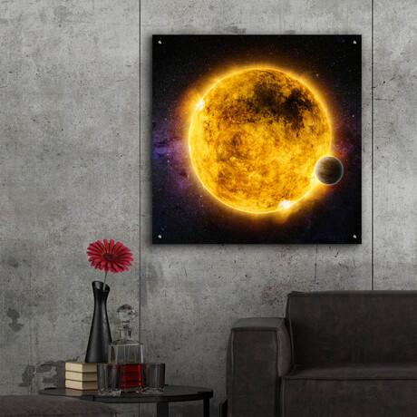 "Older Sun-Like Star (12""H x 12""W x 0.13""D)"