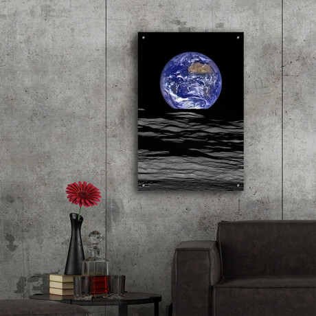 """Earth from Moon (16""""H x 12""""W x 0.13""""D)"""