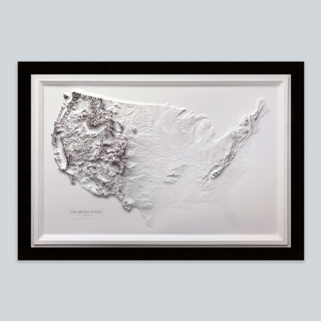 United States 3D Raised Relief Map // Modern