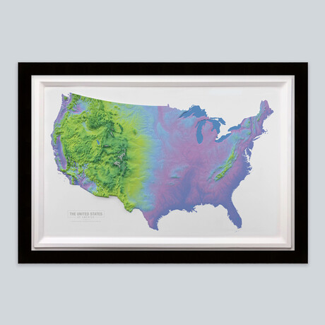 United States 3D Raised Relief Map // Cool