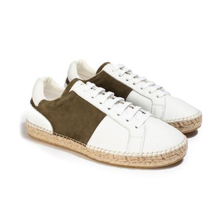 Louisa HSS20 Sneaker // Khaki + White (Men's EU Size 41)