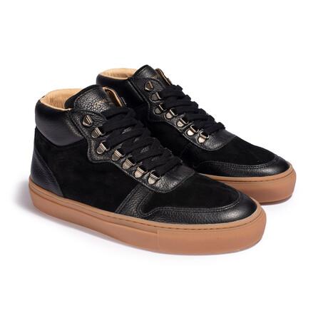 Leon Bis Homme Sneaker // Black (Men's EU Size 42)