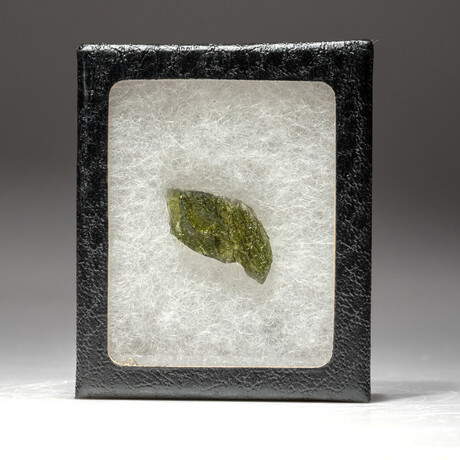 Genuine Moldavite Tektite Nugget + Display Box // 1.5 g