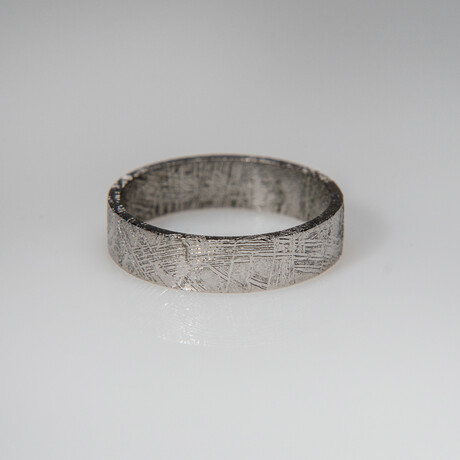 Genuine Polished Muonionalusta Meteorite Ring // Size 11