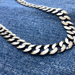 "Double Sides Desgin Curb Chain Necklace (18"" // 55.7g)"