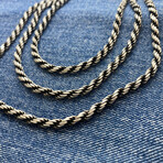 """Mega Rope Chain Necklace (18"""" // 34.4g)"""
