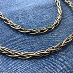 """Mega Twisted Chain Necklace (18"""" // 49.5g)"""