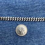 "Detailed Curb Chain Bracelet (8""// 22.2g)"