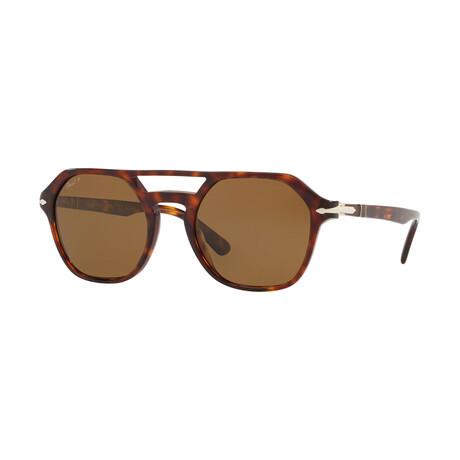 Men's Polarized Aviator Sunglasses // Tortoise + Brown
