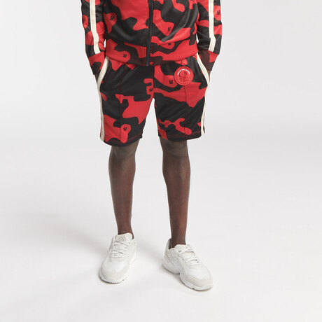 Hipo Track Shorts // Camo Red (S)