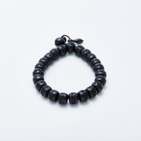 Jean Claude Jewelry // Stretch Spiritual Bracelet // Black + Silver