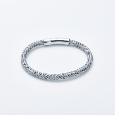 Jean Claude Jewelry // Braided Steel Bracelet // Silver