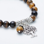 Jean Claude Jewelry // Tree Of Life Bracelet // Brown + Silver