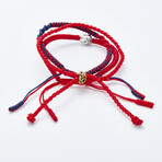 Jean Claude Jewelry // Handmade Tibetan Bracelet // Set of 3 // Red + Navy