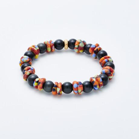 Delle Arte // Savana Sunset Bead Bracelet // Multicolor