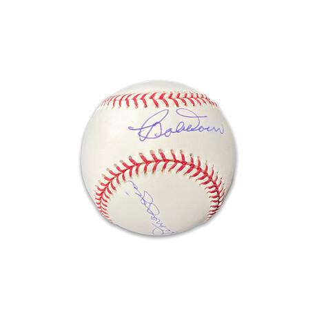 Dom Dimaggio & Bobby Doerr // Boston Red Sox // Signed Baseball