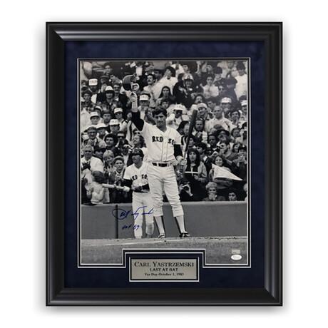 Carl Yastrzemski // Boston Red Sox // Signed + Framed Photograph + Inscription
