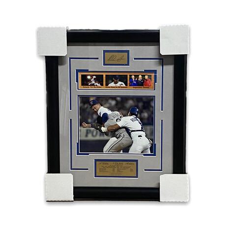 Nolan Ryan // Texas Rangers // Facsimile Signature + Framed Photograph