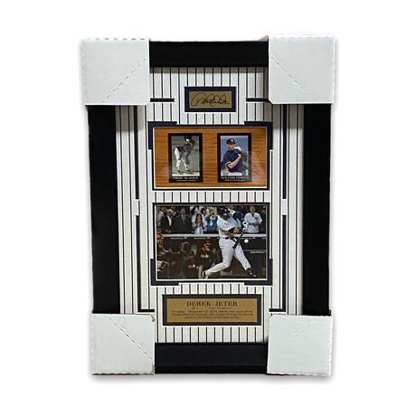 Derek Jeter // New York Yankees // Facsimile Signature + Framed Photograph