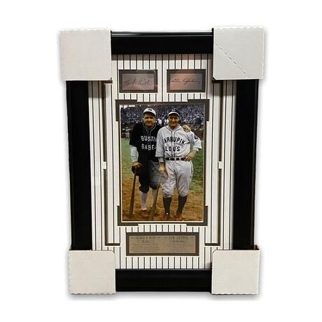 Babe Ruth & Lou Gehrig // New York Yankees // Facsimile Signature + Framed Photograph