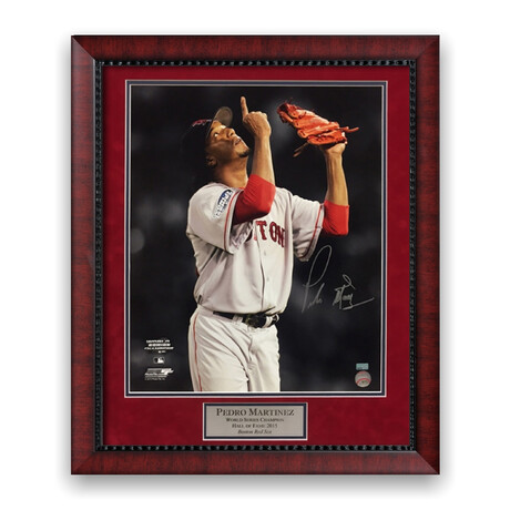 Pedro Martínez // Boston Red Sox // Signed + Framed Photograph