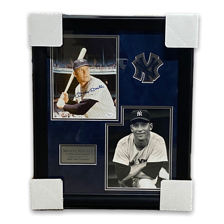 Mickey Mantle // New York Yankees // Signed + Framed Photograph