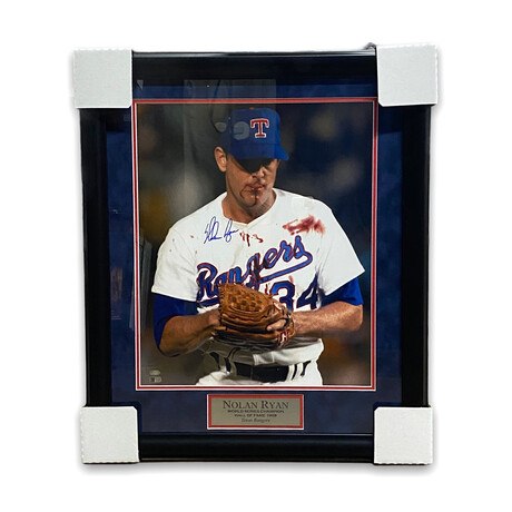Nolan Ryan // Texas Rangers // Signed + Framed Photograph