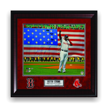 David Ortiz // Boston Red Sox // Signed + Framed Photograph