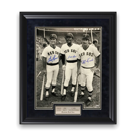 Fred Lynn, Jim Rice & Carl Yastrzemski // Boston Red Sox // Signed + Framed Photograph