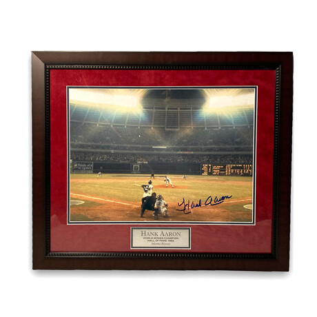 Hank Aaron // Atlanta Braves // Signed + Framed Photograph