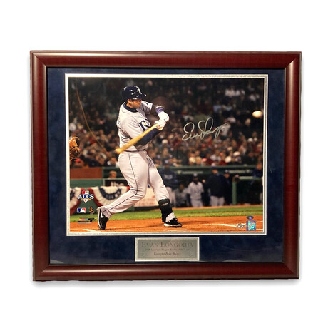 Evan Longoria // Tampa Bay Rays // Signed + Framed Photograph