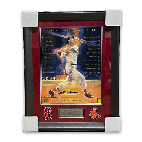 Ted Williams // Boston Red Sox // Signed + Framed Photograph
