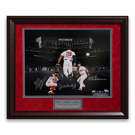 Mookie Betts, Jackie Bradley Jr. & Andrew Benintendi // Boston Red Sox // Signed + Framed Photograph