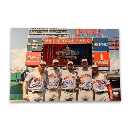 Mookie Betts, J.D. Martinez, Chris Sale, Mitch Moreland & Craig Kimbrel // Boston Red Sox // Signed Photograph