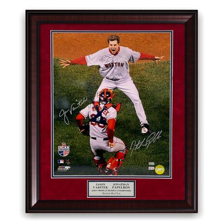 Jonathan Papelbon & Jason Varitek // Boston Red Sox // Signed + Framed Photograph