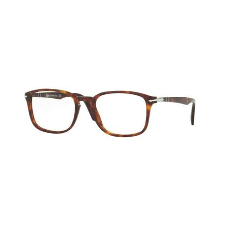 Men's Havana Rectangle Optical Frames // Havana