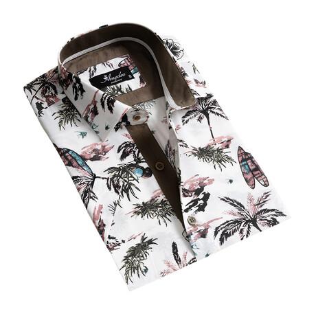 Short Sleeve Button Down Shirt // White (S)