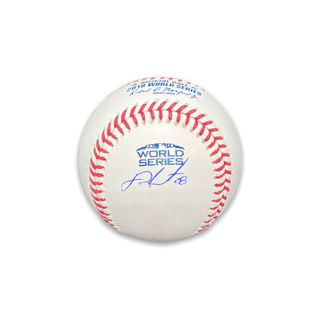 J.D. Martinez // Boston Red Sox // Signed World Series Baseball