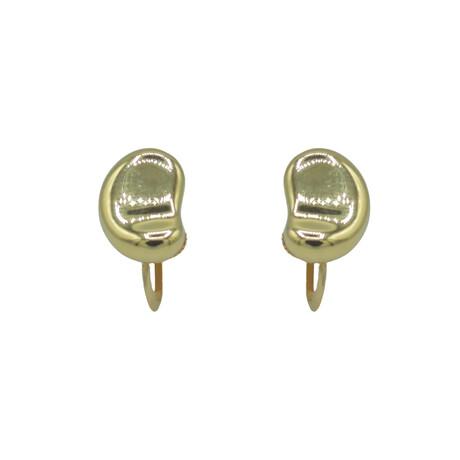 Tiffany & Co. // 18k Yellow Gold Elsa Peretti Bean Earrings // Pre-Owned