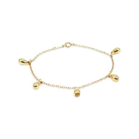 """Tiffany & Co. // 18k Yellow Gold Elsa Peretti Teardrop Bracelet // 7"""" // Pre-Owned"""