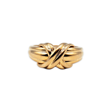 Tiffany & Co. // 18k Yellow Gold X Ring // Ring Size: 4.75 // Pre-Owned