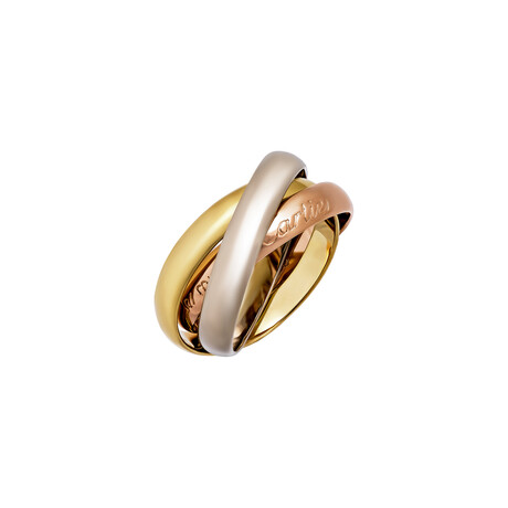 Cartier // 18k Yellow Gold + 18k White Gold + 18k Rose Gold Le Must De Cartier Trinity Ring // Ring Size: 5.75 // Pre-Owned