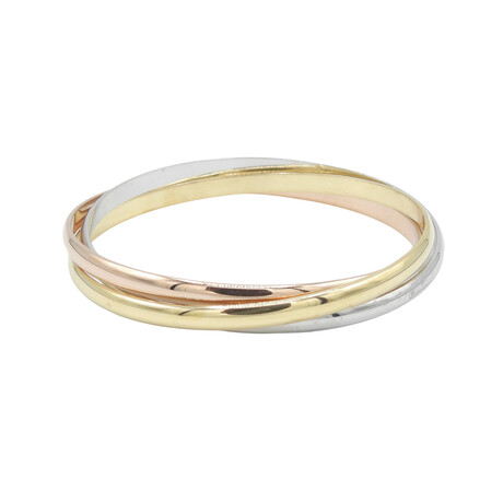 "Cartier // 18k Yellow Gold + 18k White Gold + 18k Rose Gold Trinity Bracelet // 8"" // Pre-Owned"